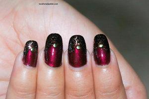 See the tutorial http://lovefornailpolish.com/nail-polish-designs-beginners-best-burgundy-nail-polish