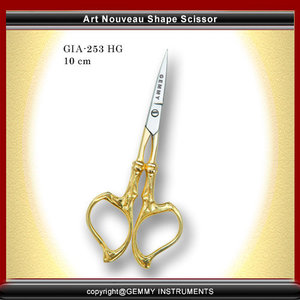"""Embroidery Scissors-Thread Cutting Scissors-Patchwork Scissors -Cuticle Scissors -Small Scissors -Manicure Shears-Beauty Scissors-Makeup scissors Size: 3.5"""" Straight or Curved Blades Half Gold Finished Made With High Quality Stainless Steel. Also Available In Plasma Coating, Powder Coating, Paper Coating, Full Gold, Half Gold, Dull and Mirror Polish Finish, Chrome Finish. Mate Black Finish"""