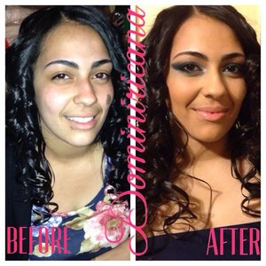This is one of my gorgeous client's makeover for an event.  *hair was not done by me.