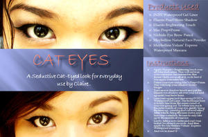Cat Eyes makeup look! :)
