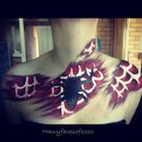 Spider man inspired body art