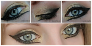 A black and gold cat eye