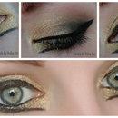 Black/Gold Cat Eye