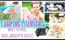 ☼ CAMPING ESSENTIALS: What to Pack, Makeup & OOTD ☼ (SUMMER TRAVEL COLLAB)