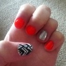 Chevron Glitter Nails