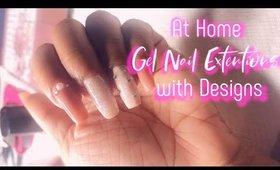 DIY Poly Gel Nails with Design | Makartt Poly Gel | leiydbeauty
