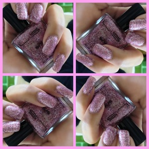 Sparkly nail pink polish from LiSi cosmetics