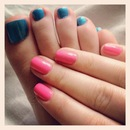 Neon toes and fingers!