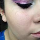 Purple and pink glitter cut crease 💜💗
