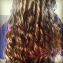 I curled my cousins beautiful hair. :)