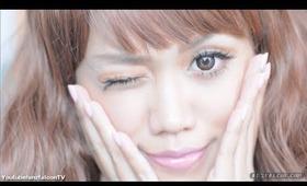 Tsubasa Masuwaka inspired   simple gyaru makeup tutorial