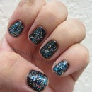 Avon Forbidden Fudge and Nicole by OPI A Million Sparkles