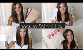 Back to School Haul and GIVEAWAY Feat MUJI ◌ alishainc