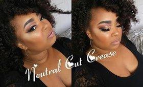 Neutral Bronzed Glitter Soft cut crease