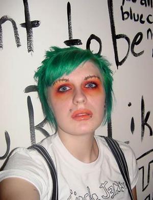 Orange Scar Makeup