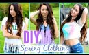 DIY CLOTHES | Spring, Tumblr Inspired Clothing - No Sew!