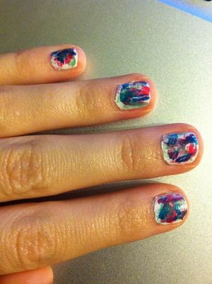 Graffiti style nail. So far my absolute favorite!