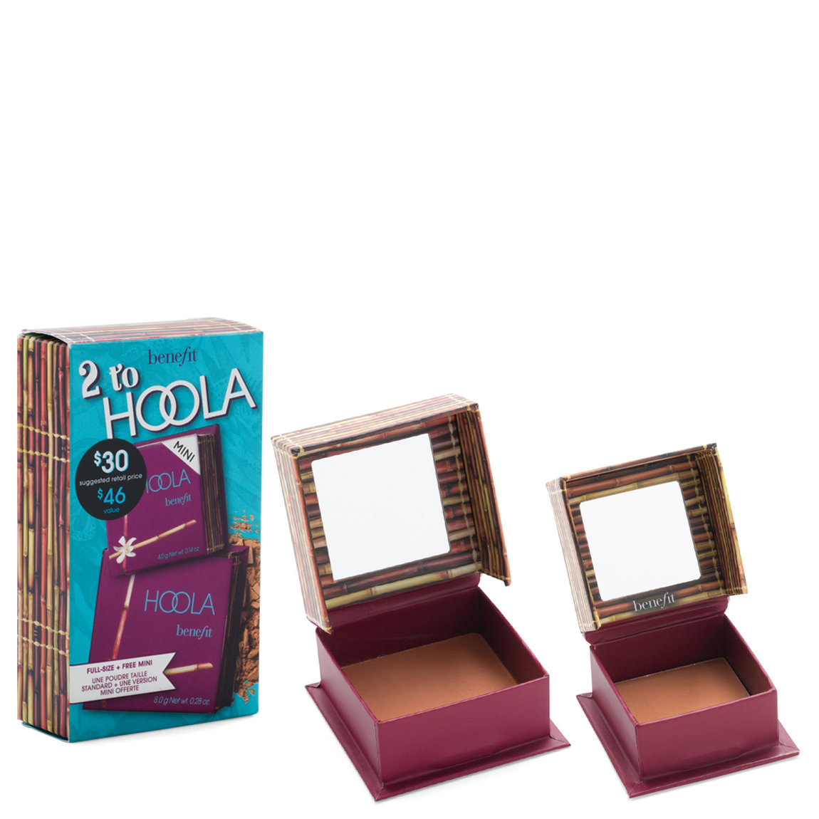 Benefit Cosmetics 2 to Hoola Bronzer Set product smear.