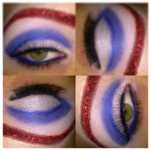 fourth of july makeup.