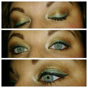 I was playing around with a new palette and tried to find a way to make turquoise still fit into a fall look