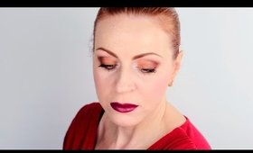 WINTER Makeup with Bold Marsala Lips