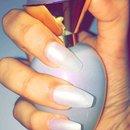 Pearl white nails 😍💅🏼
