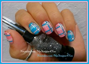 Romantic Plaid Nails | Baby Pink And Blue Plaid Nail Art https://www.youtube.com/watch?v=3DZU4-KWz0E