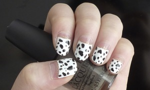 Dalmatian Print Nails Tutorial http://youtu.be/B6heuKyiFys
