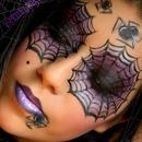 Purple & Black Smokey Spider Web Eyes