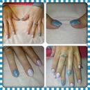 Kath Kidston inspired nail art