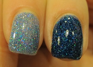 blue scattered holo
