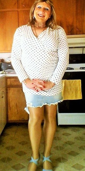 My wife once again humiliating me in front of her friends, telling them how I keep my fingers & toe nails polished, I keep my eyebrows plucked, I wear panties, bras & pantyhose every day & how I sleep in nightgowns.