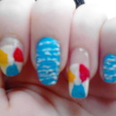 Beach Ball Nails