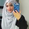 Eid inspired hijab look with headpiece