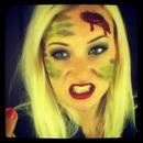 Bleeding camouflage girl