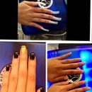Black and gold nails art
