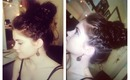 School/ Work Hair: Grecian Braided Big Messy Bun