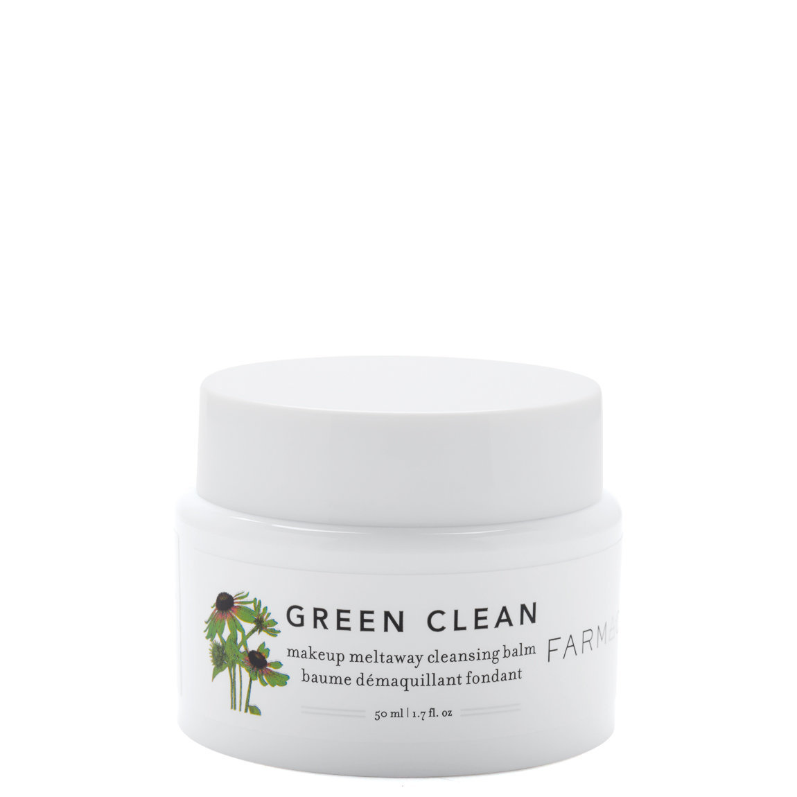 Farmacy Green Clean Makeup Meltaway Cleansing Balm 1.7 oz product swatch.