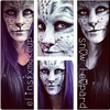 Snow Leopard face paint