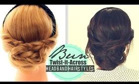 ★CUTE FALL HEADBAND HAIRSTYLES #2 | Messy EVERYDAY BUN TWIST-IT UPDO FOR MEDIUM LONG HAIR TUTORIAL