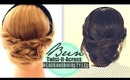 ★CUTE FALL HEADBAND HAIRSTYLES #2 | Messy EVERYDAY BUN TWIST-IT UPDO FOR MEDIUM LONG HAIR TUTORIAL