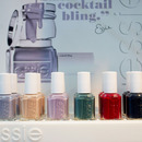 Essie's cocktail bling mixes pastels with dark vampy shades—don't forget about that ultra-cool turquoise green!