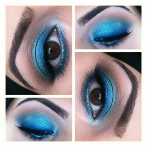 Blue with Royal Blue as liner.