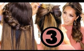 3 CUTE HAIRSTYLES Made EASIER for YOU ★ Easy Holiday Hairstyles