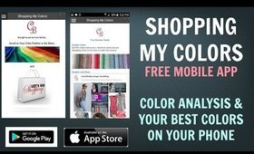 Shopping My Colors - New Free Color Analysis / Colour Analysis Mobile App - Best Colors For You