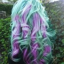 Purple and Mint Hair
