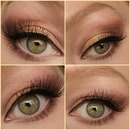 Gold & bronze look collage