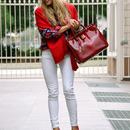 British Style Red Shirt