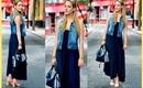 CITY STYLE | Maxi Dress + Denim Vest