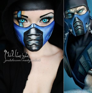 So although we are right in the middle of the NYX Face Awards, I am still going to continue to do my regular looks  I am currently obsessed with my Xbox. I have had Playstation for YEARS, and FINALLY got an Xbox.. so needless to say, I am playing Mortal Kombat all the time. I decided to do a Subzero look. Dont forget to vote for Madeyewlook in the Nyx Face Awards!! www.youtube.com/madeyewlook, www.facebook.com/madeulookbylex